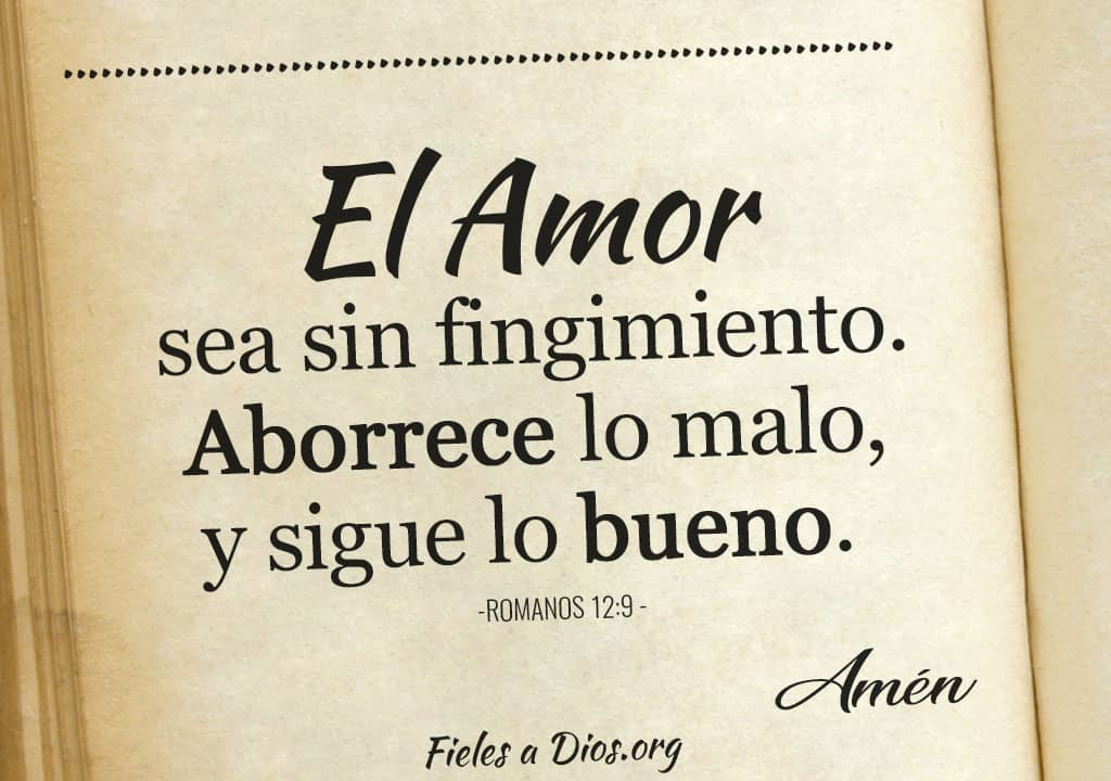 el amor sea sin fingir