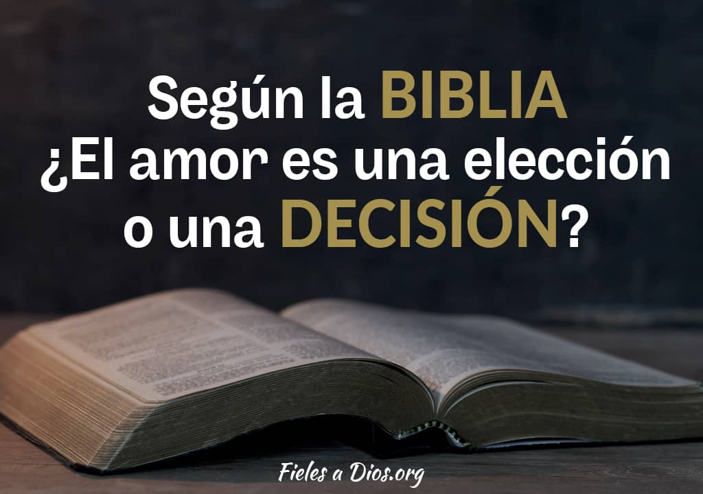 segun biblia amor eleccion decision